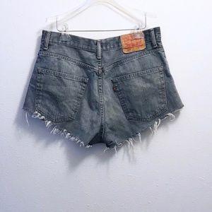 Levi's Shorts - Levi's Distressed Cut Off Denim Shorts